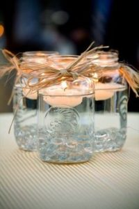 candle water jar