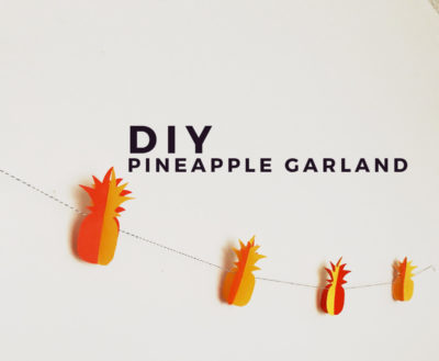 Evented How to DIY: Pineapple Garland How Tos